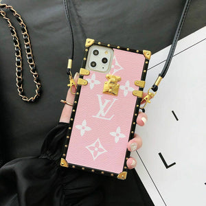 Luxury LV Square Trunk Design iPhone Case