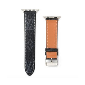 LV Monogram Black Apple Watch Band