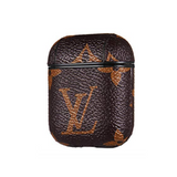LV Brown Leather ShockProof AirPods Case