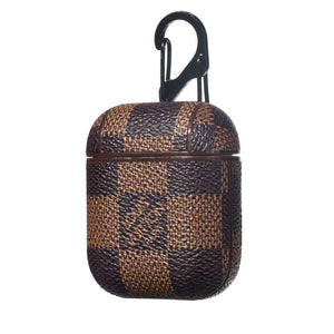 LV Checkered Leather ShockProof AirPods Case