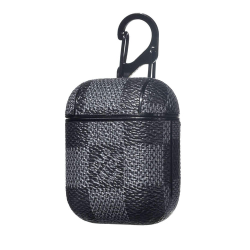 LV Classic Checkered Leather ShockProof AirPods Case