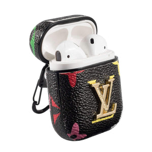 LV Bright Color Style Leather ShockProof AirPods Case