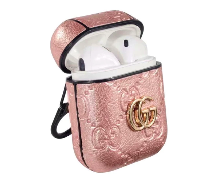 Gg Style Leather Shockproof Airpods Case Flamed Hype