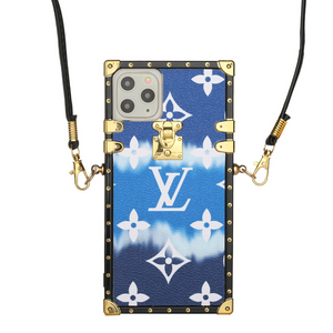 Blue Gradient LV Trunk iPhone Case