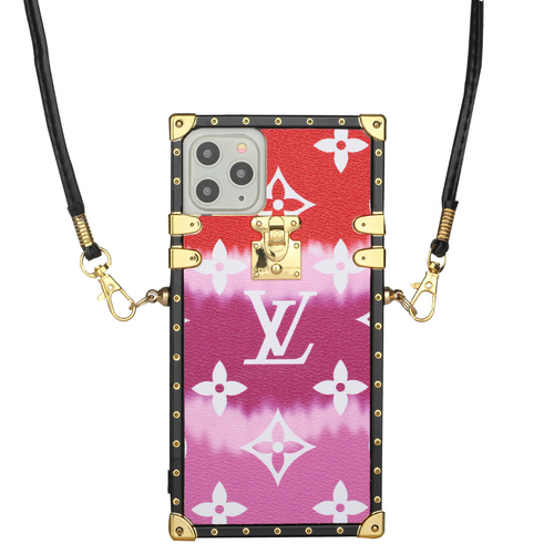 Pink Gradient LV Trunk iPhone Case