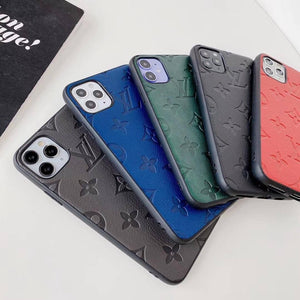 Mono Full Cover Brushed Leather iPhone Case