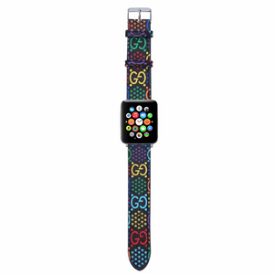 GG Rainbow Blackout Edition Apple Watch Band