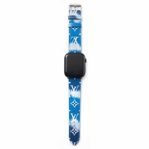 Gradient Blue/White LV Apple Watch Band