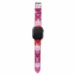 Gradient Red/Purple LV Apple Watch Band