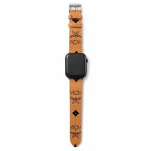 MCM Tan Leather Apple Watch Band