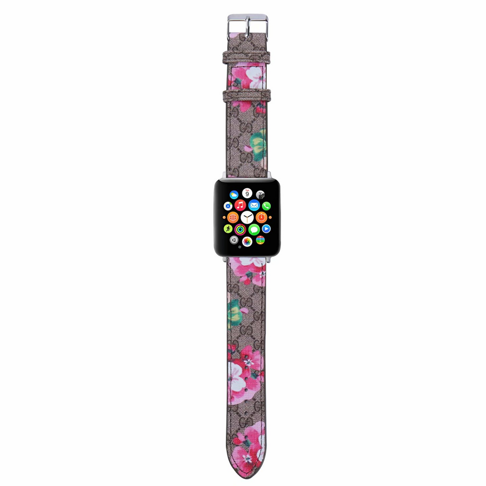 GG Pink Rose Edition Apple Watch Band