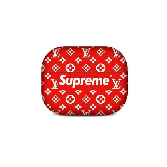 Classic Red LV x SUP AirPods Pro Case