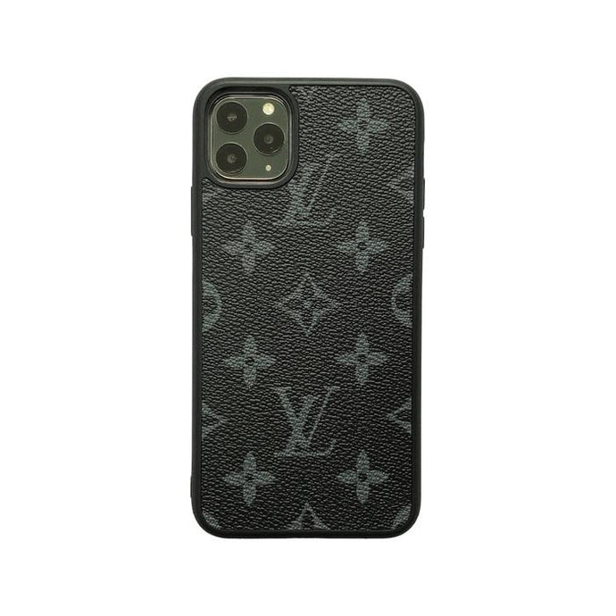 LV Classic Full Cover iPhone Case - Black