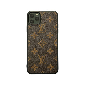 Classic Mono Full Cover iPhone Case - Brown
