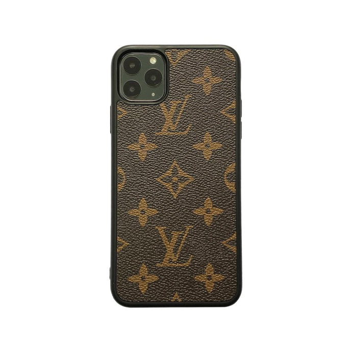 LV Classic Full Cover iPhone Case - Brown