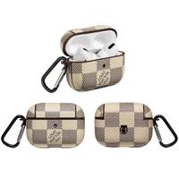 LV Checkered AirPods Pro Case - White