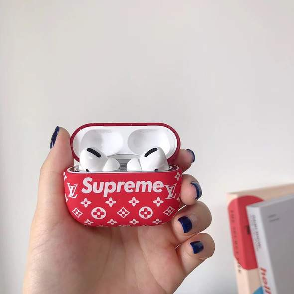 Classic Red Lv X Sup Airpods Pro Case Flamed Hype