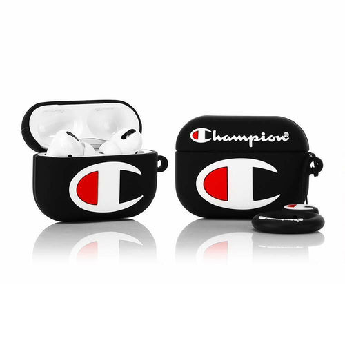 Black Champion Silicone AirPods Pro Case