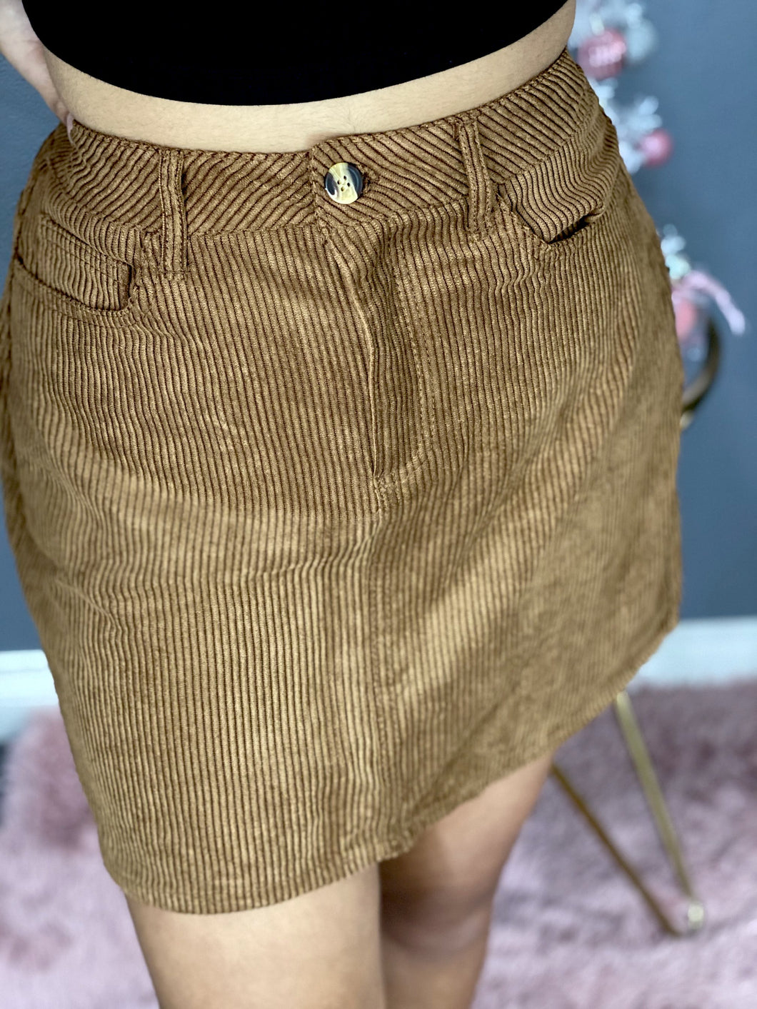 Holiday Skirt (Dark Brown)