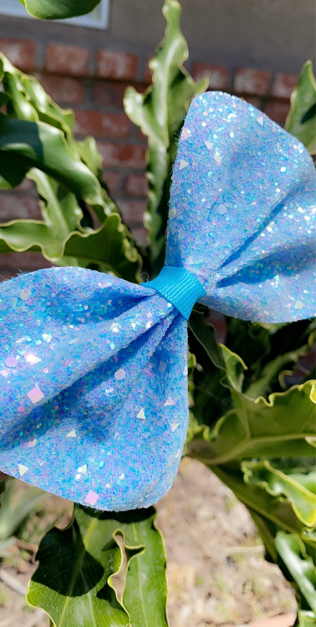 Sparkly Blue Bow