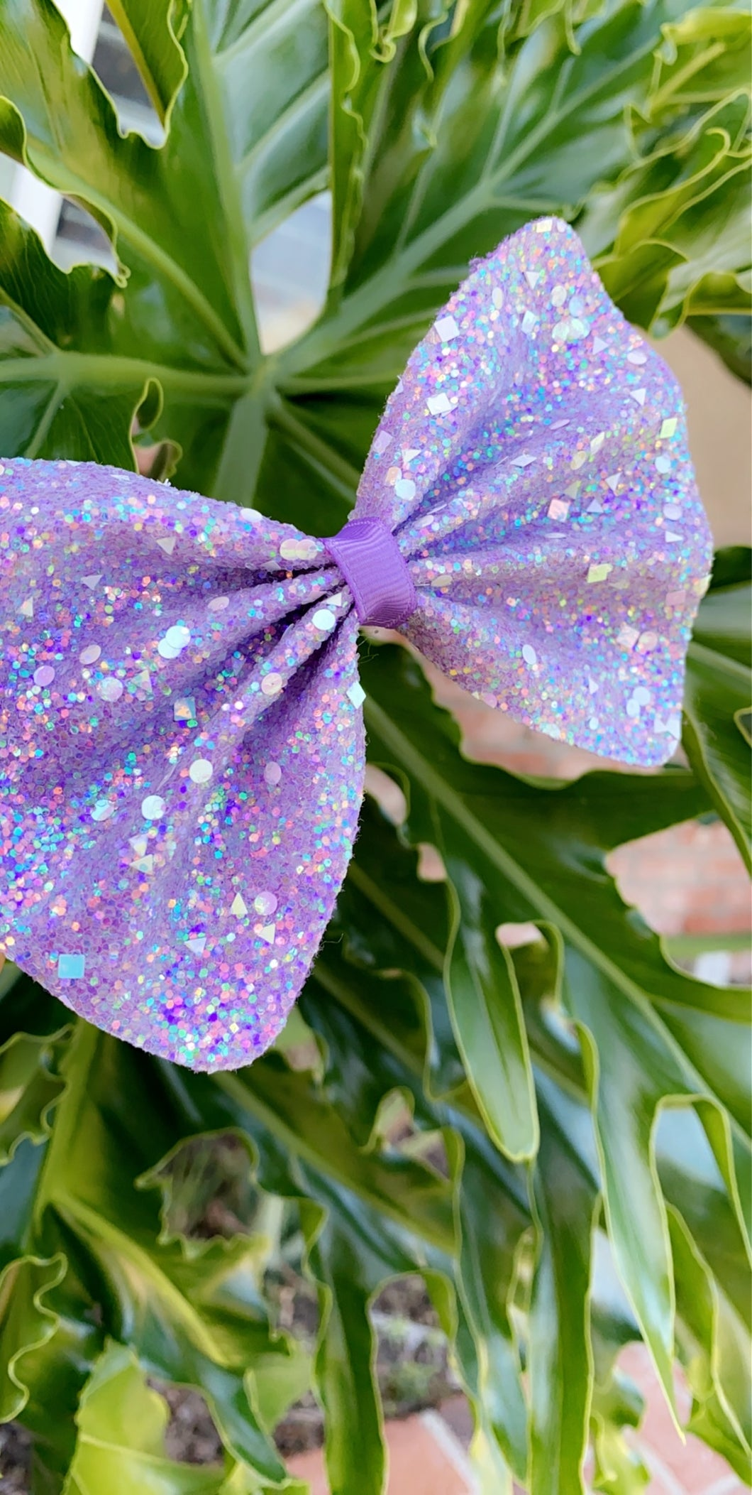 Sparkly Purple Bow