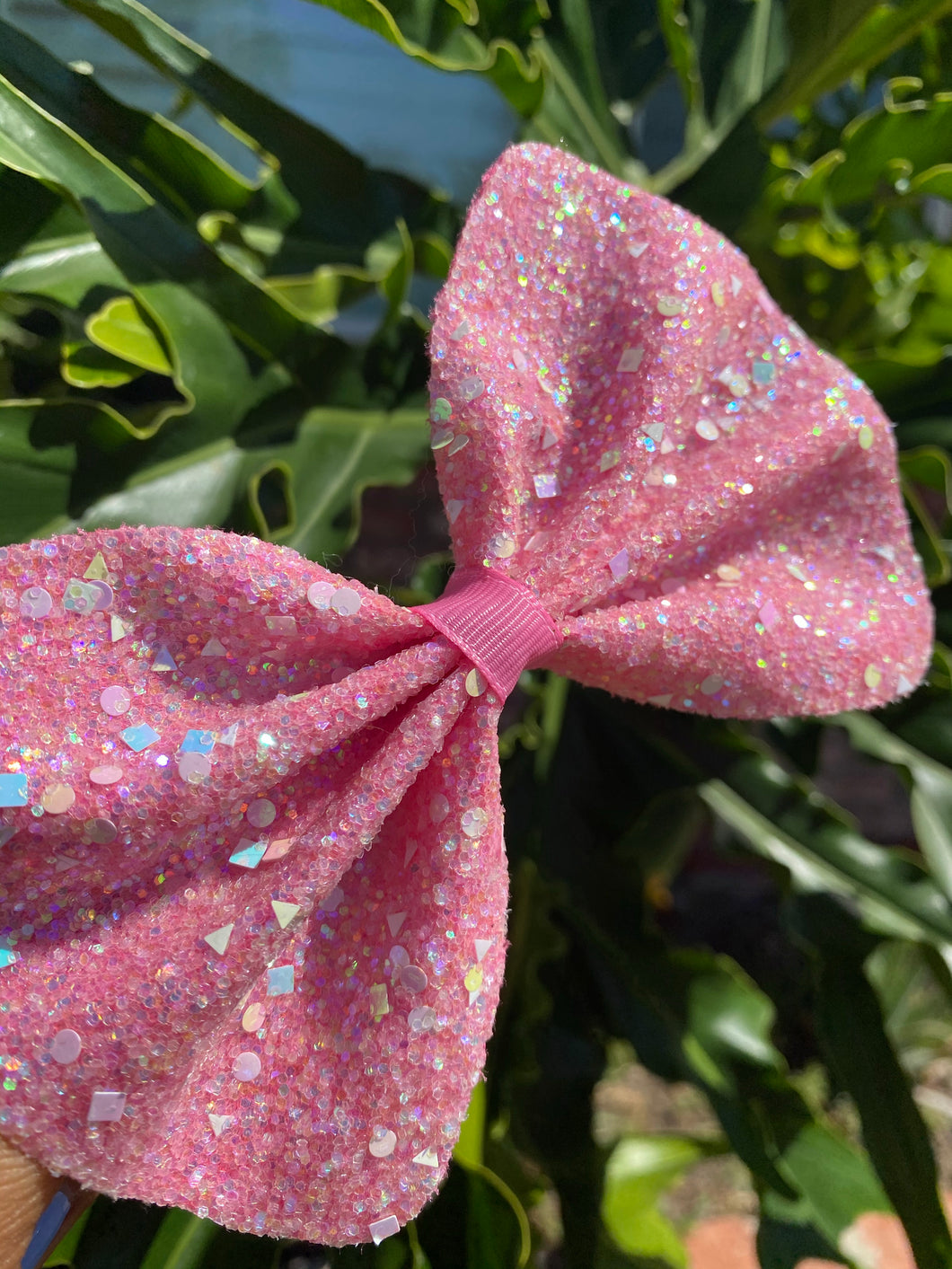 Sparkly Hot Pink Bow