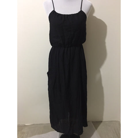 TARGET - Long Black Dress with Side Pockets - pieces-by-jenny