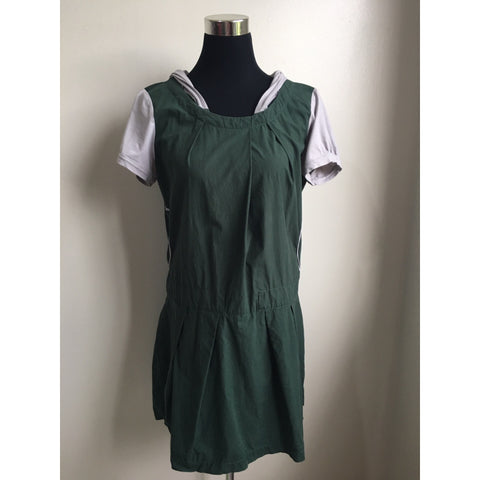 Green Hooded Dress with Side Pockets - pieces-by-jenny