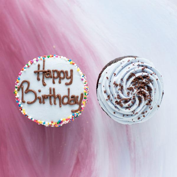 Phenomenal Crave Cupcakes Happy Birthday Cupcake Two Pack Personalised Birthday Cards Cominlily Jamesorg