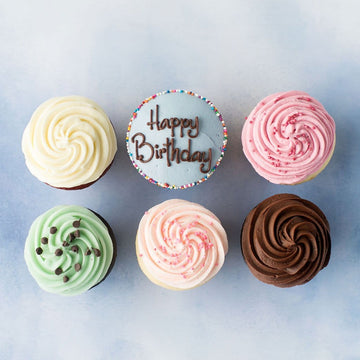 Happy Birthday Original Cupcake Half Dozen