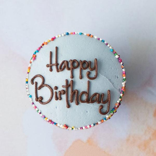 Custom Message Specialty Cupcake