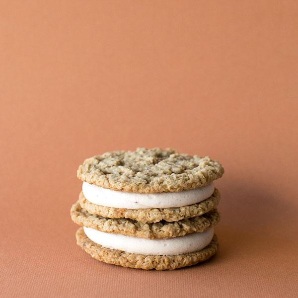 Crave Cupcakes - Oatmeal Vanilla Sandwich Cookie
