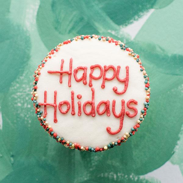 Crave Cupcakes - Happy Holidays Cupcake