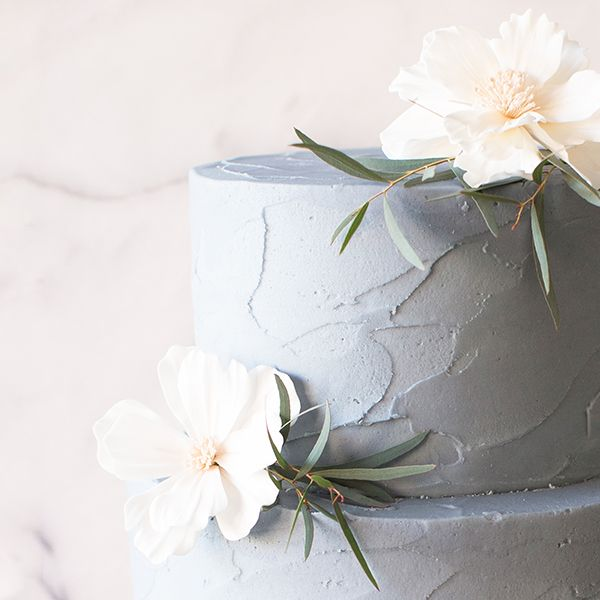 Crave Cupcakes Steel Blue Stucco Cake