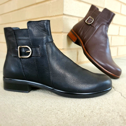 Leather waterproof Naot flat ankle boot