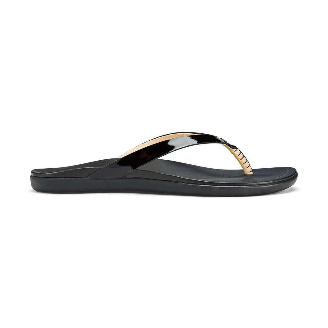 Olukai - Ho' Opio Leather flip flop, Sandals, Olukai, Plum Bottom