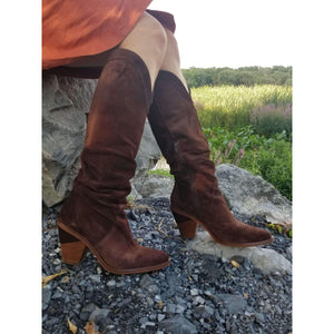 Kanna - Tall Boot, Boots, Kanna, Plum Bottom