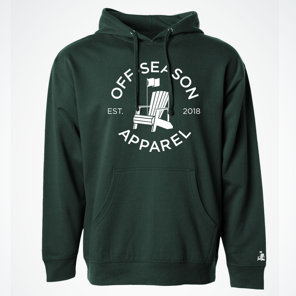 Off-Season Classic Hoodie – Forest Green
