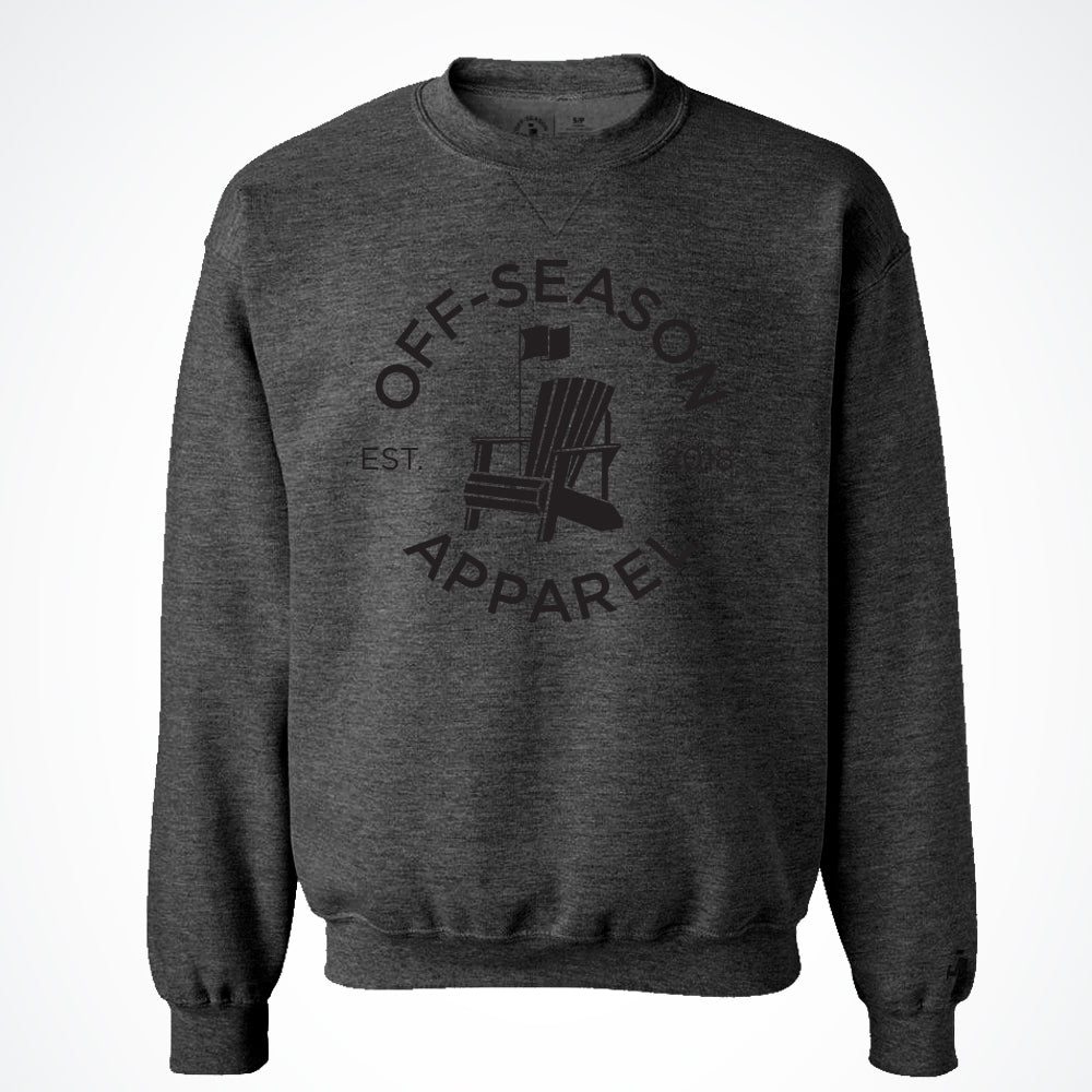 Off-Season Classic Crewneck- Black Salt & Pepper