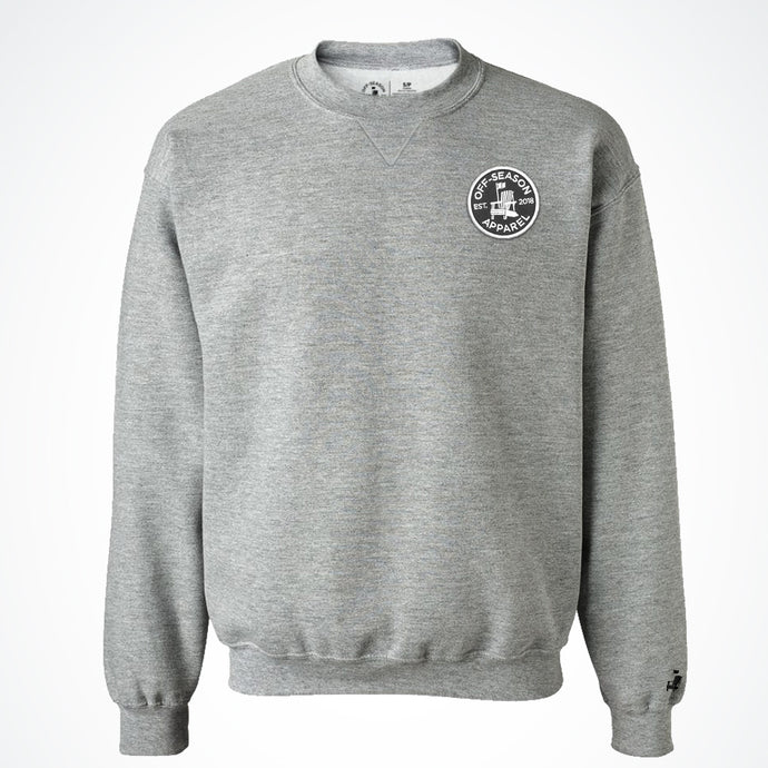 Off-Season Patch Crewneck - Salt & Pepper