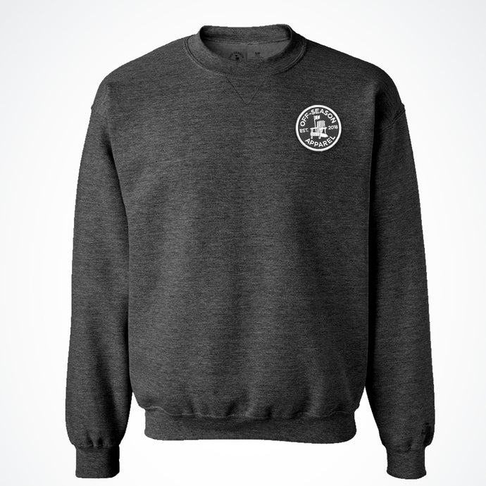 Off-Season Patch Crewneck - Black Salt & Pepper