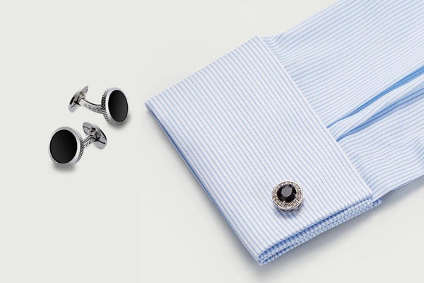 men's dress shirt cuff with cufflinks