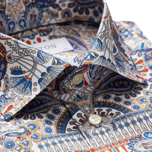 ETON Ancient Paisley Print Twill Shirt