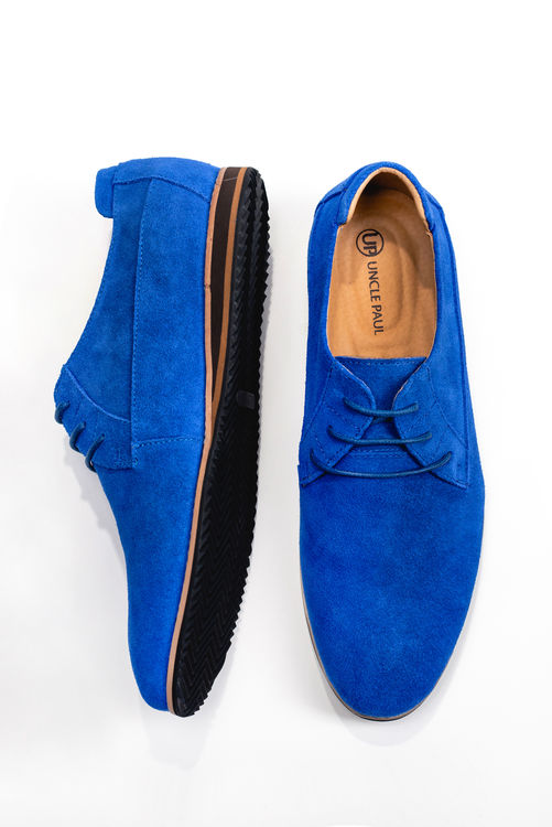 Estonian Design Electric Blue Suede Casual Shoe Summer Look