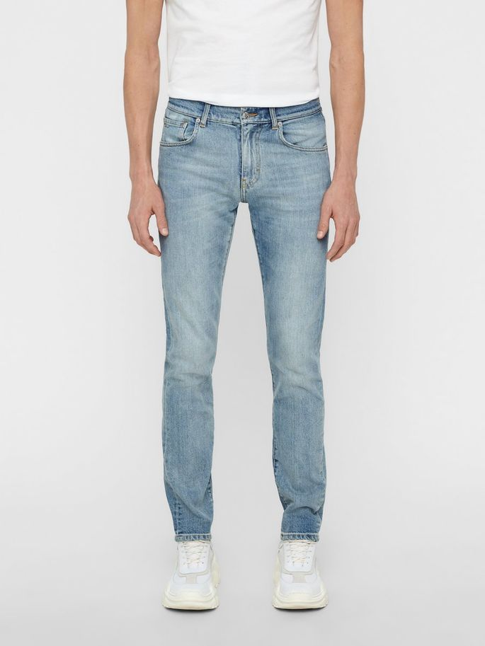 Menswear blue jeans premium quality slim fit stretch summer 2019