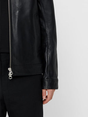 Menswear black premium quality lamb leather jacket summre 2019