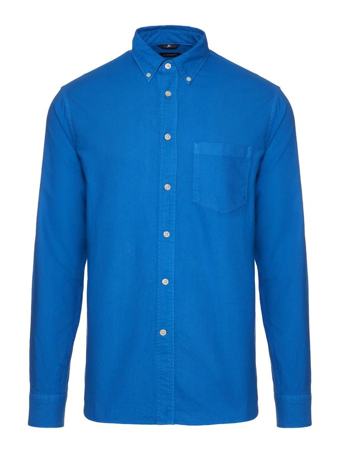Menswear Cotton Long Sleeve Shirt Blue Color Premium Quality Summer 2019