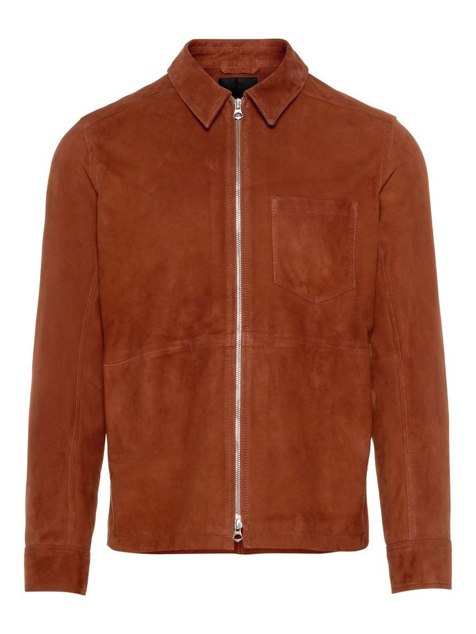 Menswear premium quality goat leather jacket