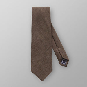Premium quality made in Italy men's wool tie Brown color