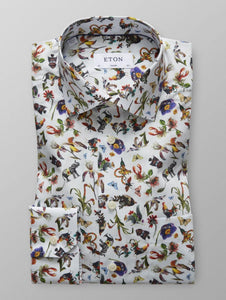 Premium quality formal men's shirt metamorphosis print unusual design